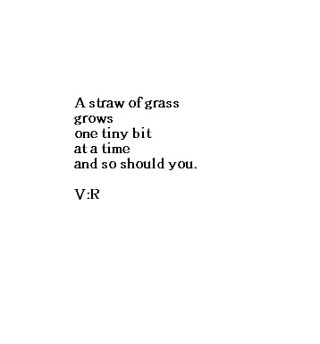 Straw of grass